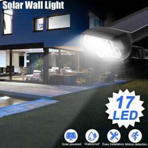 17LED Security Solar Sensor Wall Light Outdoor Garden Lamp Waterproof Spotlight