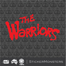 THE WARRIORS Cult Movie Sticker Decal 255mm wide 1979