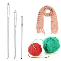 9x Metal Hand Knitting Yarn Needles Cross Stitch Large Eye Knit Crochet Hook Set