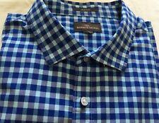 RODD & GUNN Blue Check, Short Sleeve Shirt -3XL- As New