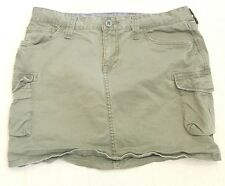 ** LUCKY BRAND Junior Khaki Green Cargo 6 Pockets Mini Skirt Sz. 2/26