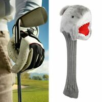Portable Shark Head Animal Wood  Driver Head Cover Headcover Durable