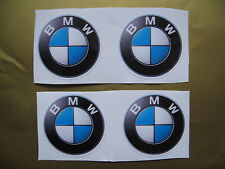 BMW Wheel Centre Caps Stickers 64mm diameter 3D look x4