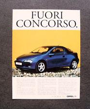 [GCG] L308- Advertising Pubblicità -1998- OPEL TIGRA , FUORI CONCORSO