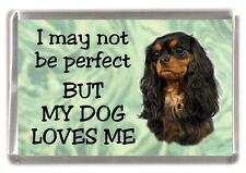 """Cavalier King Charles Fridge Magnet No.2  """"I may not be perfect .."""" by Starprint"""