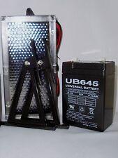 UPG 6VOLT 4.5AH RECHARGEABLE SEALED LEAD ACID SLA BATTERY W 6V SOLAR SUN CHARGER