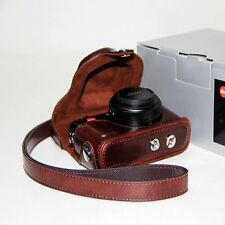 Ever Ready Camera PU Leather Bag Case Cover For Leica D-Lux6 Panasonic LX7 Brown