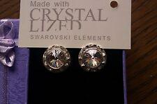 Genuine Swarovski Elements Gift Boxed Clear Crystal Stud Earrings 13mm - £25!