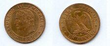 Gertbrolen 1 Centime Napoléon III Tête laurée  1862 Paris Superbe à F D C