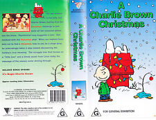 PAL VHS VIDEO TAPE : A CHARLIE BROWN CHRISTMAS + IT'S MAGIC CHARLIE BROWN