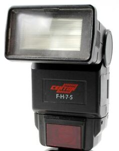 CENTON FH75 Zoom flashgun & Minolta AF module unboxed used very good condition