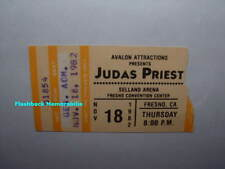 JUDAS PRIEST 1982 Concert Ticket Stub FRESNO CA SELLAND ARENA Very Rare