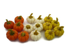 15 Loose Pumpkins Dollhouse Miniatures Fruit Vegetable Supply Deco Halloween Day