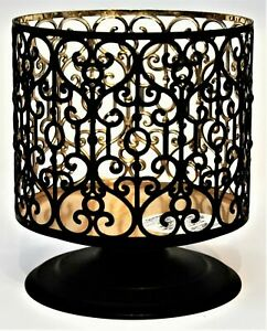 Bath & Body Works BLACK METAL HEARTS SCROLL Large 3-Wick Candle Holder 2021