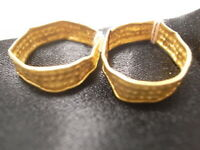 Ancient gold earrings Phoenician or Near Eastern I mil BC - or Sassanian