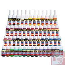 AMAIZING 54 Colors Complete Solong Tattoo BEATIFUL Ink Set Pigment Kit 1/6oz 5ml
