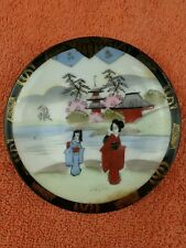 More details for vintage japanese nippon hand painted saucer