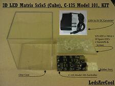 LedsAreCool, 3D LED Matrix 5x5x5 (Cube), 125 LED's, KIT