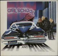GIRLSCHOOL Hit And Run 1981 UK  vinyl LP EXCELLENT CONDITION