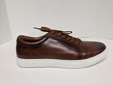 Carrucci Mossimo Casual Sneakers, Cognac Leather, Mens 10.5 M