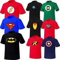 Mens Superhero FILM Marvel DC COMICS Batman Superman Flash GL TShirts Top Tee FC