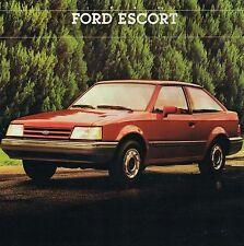 1988 1/2 Ford ESCORT / EXP Brochure / Catalog w/ Color Chart: Pony,LX,GT, 1988.5