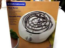 New DURABRAND BR-0130 Single Burner Hot Plate 1100 Watt