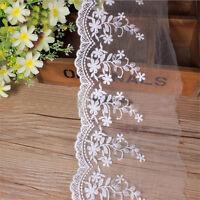Stickerei Baumwolle Floral Spitzenband Spitzenborte Spitzenbordüre Spitze Neu