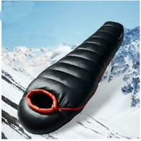 800-1500g Duck Down Thermal Mummy Sleeping Bag 5°C to-25°C Winter Camping Hiking