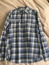 Brunello Cucinelli Mens Button Down Dress Shirt Size XXL Blue / White