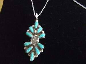 Vintage  Stunning Silver 9250And Turquoise Necklace