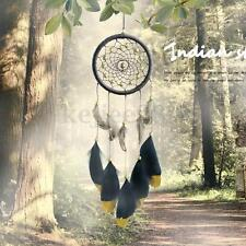 Brown Dream Catcher Feather Golden Beads Native American Indian Dreamcatcher