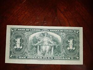Bank Of Canada 1937 $1 Dollar Banknote