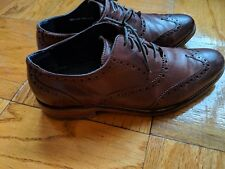 Cole  Haan Wing Tip Oxfords size  9.5 W Wide Dark Brown Nike Air