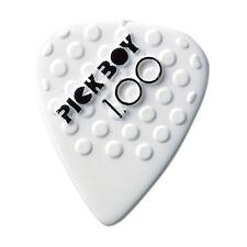 6 (SIX) PICKBOY Ceramic Guitar Picks White 1.00mm Grip soft Plectrum