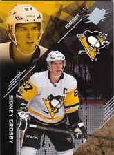 17/18 2017/18 SPx Base Spectrum Parallel #1 Sidney Crosby Penguins /87