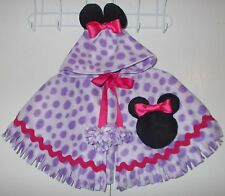 Minnie Mouse Cape Handmade Fleece Coat Poncho Toddler Girls Fits Size 18M-3T NEW