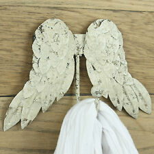 Wings coat hook hanger clothes vintage rustic shabby chic wall bedroom