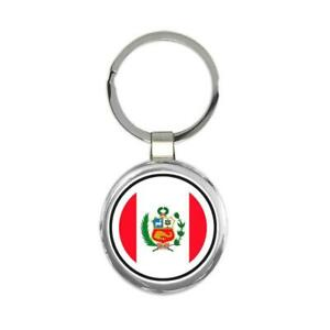 Gift Keychain : Peru Flag Never Underestimate The Power Peruvian Expat Country