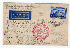 1930 Germany Graf Zeppelin Cover - Luftschiff Red Confirmation - Sevilla Cancel