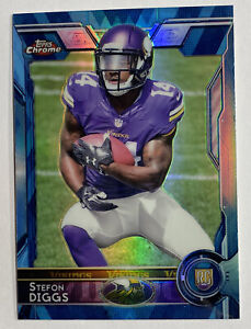2015 Topps Chrome Blue Refractor Stefon Diggs Rookie RC #148