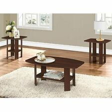 Cherry Living Room Table 3pcs Set- Coffee Table and  2 Matching End Tables