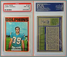 1972 Topps #140 Larry Csonka PSA 8 Near Mint Dolphins Football Perfect Season