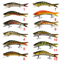 8 Segment Swimbait Lures Fishing Lures Hard Bait Minnow for Bass Trout Walleye