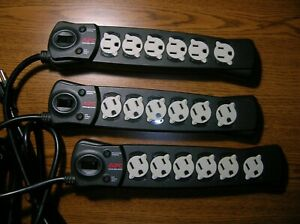 APC Schneider Electric P6B Surge Protector 15A 6 Outlet 6 ft APCP6B - - Set of 3