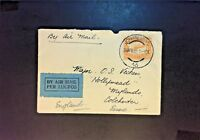 South Africa 1932 Airmail Cover w/ 1 Shilling Orange - Z900