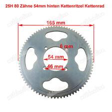 25H 80 Zähne 54mm hinten Kettenritzel Kettenrad für 47cc 49cc PocketBike Mini