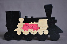Colorful 3D Antique Toy Train Wooden Amish Scroll Saw Toy Puzzle