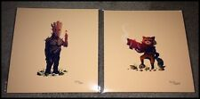 OLLY MOSS GUARDIANS OF THE GALAXY PRINT SET GROOT & ROCKET RACCOON A-Holes RARE!