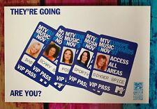 RARE! Spice Girls MTV Europe Music Awards 1997 Promo Leaflet WIN TICKETS